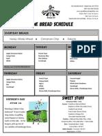 June Bread & Sweets Menu