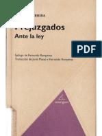 Prejuzgados Ante La Ley_Derrida