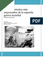 Acontecimientos más importantes de la segunda guerra mundial