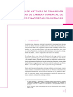 Matrices de Transicion Colombia