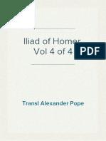 Iliad of Homer, Vol 4 of 4, Transl Alexander Pope