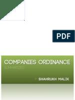 Companies Ordinance (Summarized)
