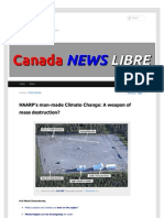 Strahlenfolter - HAARP's man-made Climate Change - A weapon of mass destruction - canadanewslibre.com