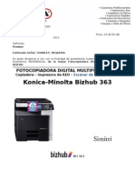 COTIZACION BIZHUB363 - ESTANDAR