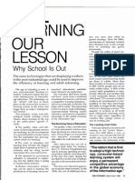Learning Our Lesson - Why School Is Out  (The Futurist Mar-Apr 1986)