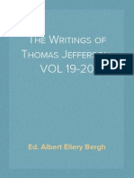 The Writings of Thomas Jefferson, VOL 19-20; Ed. Albert Ellery Bergh