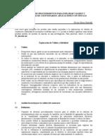 BREVE GUÍA DE PROCEDIMIENTOS PARA EXPLORAR VALIDEZ Y confiabilidad