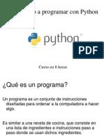 Python en 8 Horas
