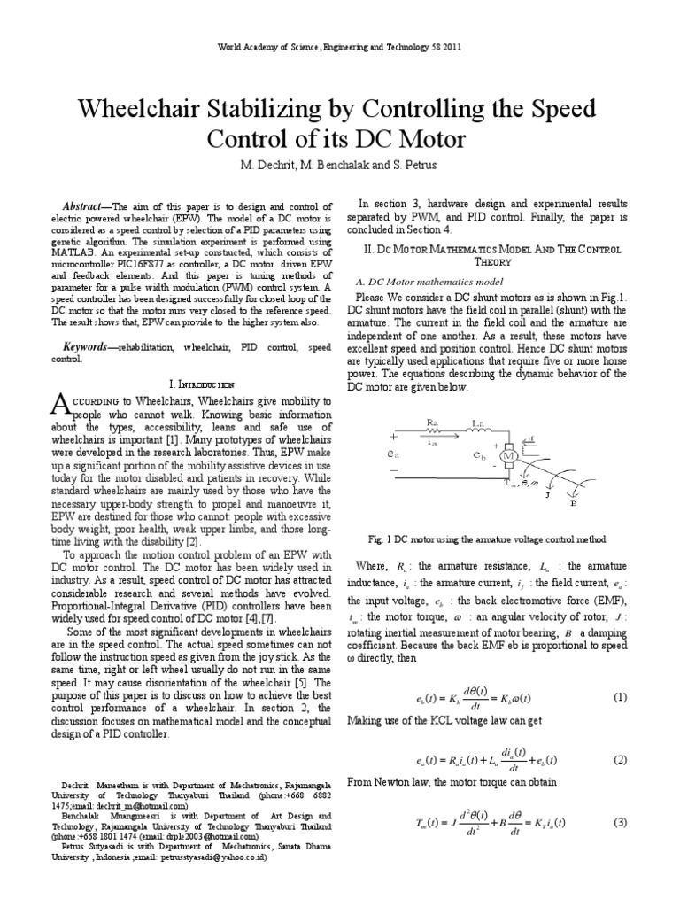 V58 66 Control Theory Electric Motor Gt Circuits A Dc Pwm Speed Circuit