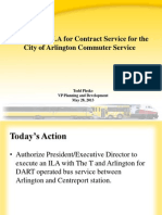 Approval of ILA for Contract Service for the 
