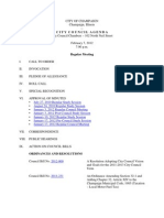 2012-02-07 Regular Council Meeting Agenda