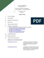 2012-12-18 Regular Council Meeting Agenda