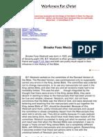WorkmenForChrist - Bible History - Westcott
