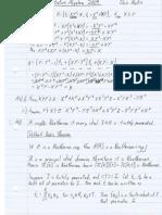 Commutative Algebra 2009 My Solutions