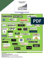 Tabela Distribuidora GVCom Janeiro 2013