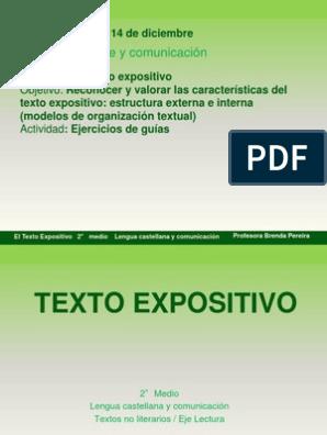 El Texto Expositivo Idioma Español Volcán