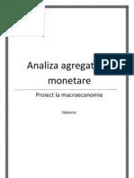 Analiza agregatelor monetare