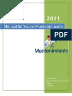 Manual de Usuario Software Mantenimiento
