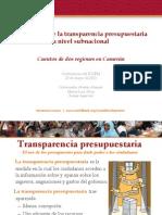 Day4-SP1_BTI Presentation for ICGFM Conference, May 23, 2013_SPEl aumento de la transparencia presupuestaria a nivel subnacional
