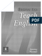 How to Teach English Jeremy Harmer