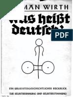 Wirth, Herman - Was Heisst Deutsch 1934