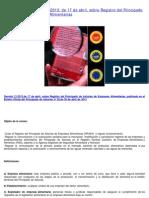 Decreto 21/2013, De 17 de Abril, Sobre Registro Del Principado de Asturias de Empresas Alimentarias. Resumen