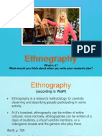 Ethnography Introduction (Project Two)