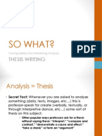 Thesis (Project Three)