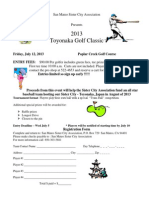 2013 San Mateo Sister City Golf Tournament