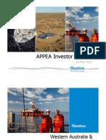 Santos APPEA Investor Briefing