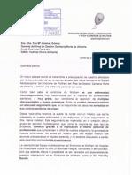 Carta a la gerente de Almería