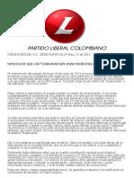 Comunicado de prensa del Concejal Jorge Durán Silva