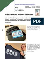 Auf Rammkurs mit den Behörden (Freies Wort, Südthüringen, von Andreas Beer