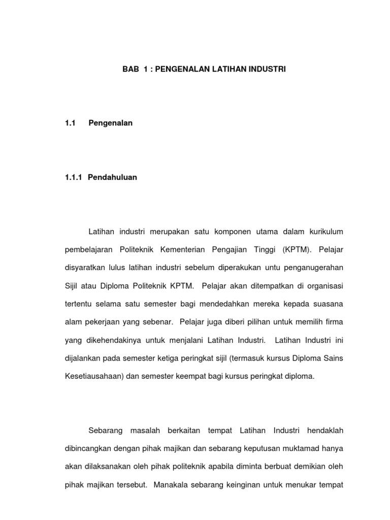 Surat Permohonan Cuti Latihan Industri Sukoharjo Aa