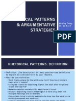 Rhetorical Patterns & Argumentative Strategies (Project Two)