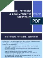 Rhetorical Patterns & Argumentative Strategies (Project Two)