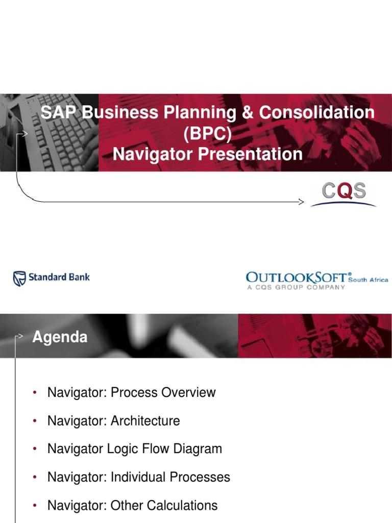 Sb Africa Sap Bpc Navigator Presentation Goodwill Accounting Process Flow Diagram Expense