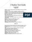 Test Guide-Medievil Europe