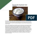 Maionese de leite com óleo de girassol