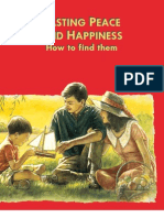 Lasting Peace and Happiness - How to Find Them