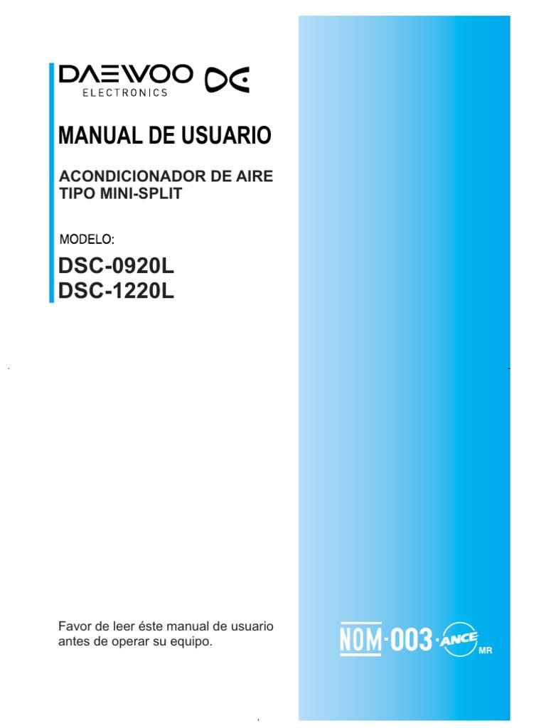 Daewoo Aire Acondicionado Manual De Instrucciones Honda Reflex Wiring Diagram Click To Preview Array Dsc 0920l 1220l Rh Scribd
