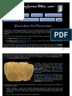 1611KingJamesBible - Facts About the Manuscripts