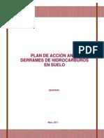 Plan de Accion Ante Derrames de Hidrocarburos en Suelo
