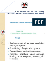 Basic Concepts of Acreage Acquisition and Legal Aspects