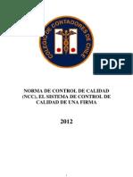 NCC Norma de Control de Calidad 2012