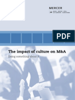 Mercer ImpactCultureM&ATransactions