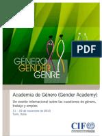 Flyer Gender Academy SP