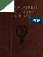 The Greatness and Decline of Rome, VOL 4 - Guglielmo Ferrero, Transl HJ Chaytor (1908)
