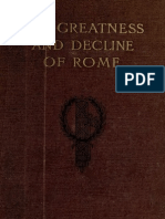 The Greatness and Decline of Rome, VOL 4 - Guglielmo Ferrero, Transl HJ Chaytor (1908)