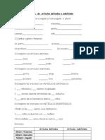 Guía  de  artículos definidos e indefinidos